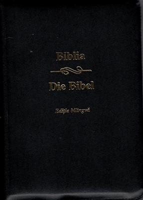 Biblia bilingvă română - germană, coperta piele