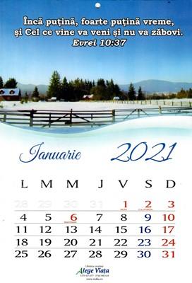 Calendar A4 2021 cu versete