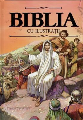 Biblia cu ilustratii, aurita (cartonata)