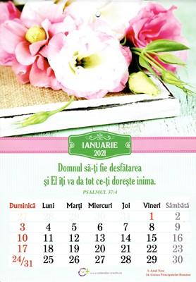 Calendar A4 2021 cu flori