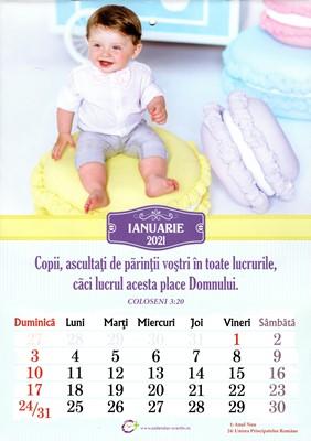 Calendar A4 2021 copii