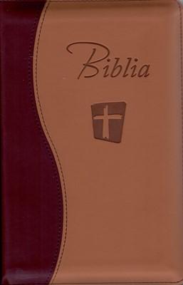 Biblia NTR maro cu fermoar