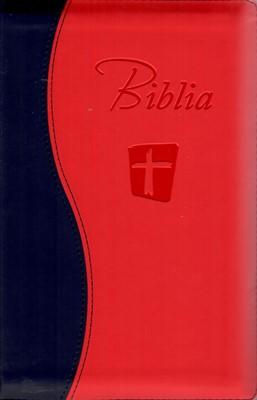 Biblia NTR roșu cu negru cu fermoar
