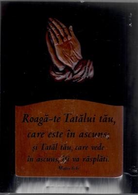 Roagă-te Tatălui tău - mini tablou mahon