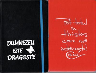 Notebook simplu, A5, coperți culori diferite și versete diferite pe coperți