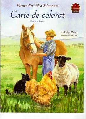 Ferma din valea minunată, carte de colorat