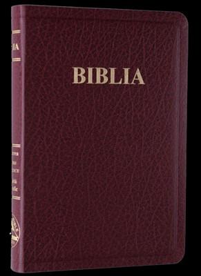 Biblia, format mediu, imitație de piele, burgundy, fără index