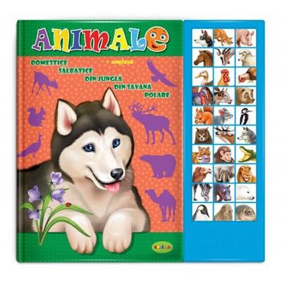 Carte bilingva cu sunete - ANIMALE