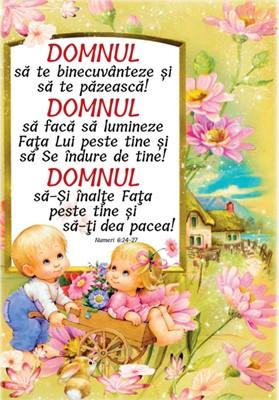 Poster A4 - Binecuvântare copii - Numeri 6:24-27