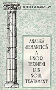 Analiză semantică a unor termeni din Noul Testament