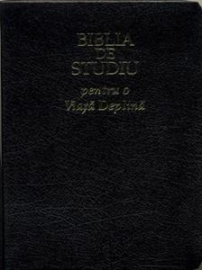Biblia de studiu pentru o viaţă deplină, piele, fermoar