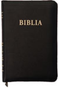 Biblia format mic, de lux, cu fermoar, cuv. Dl Isus in roşu, negru.