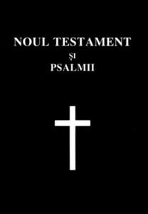 Noul Testament şi psalmi, copertă flexibilă, format mic, cuv. Domnului Isus în roşu