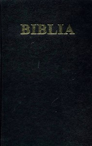 Biblia format mediu, coperta carton, cuv. D-lui Isus in rosu