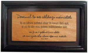 Domnul te va calăuzi neîncetat…- tablou mahon