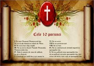 Poster A4 laminat - Cele zece porunci