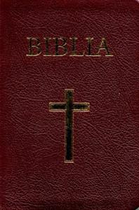 Biblia - mică, copertă piele, aurită, index, bordeaux