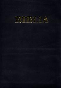 Biblie  format mediu, coperta piele, aurita, cu fermoar si index