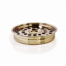 Tava impartasanie, rotunda aurie / argintie pentru 32 pahare si loc pentru azima
