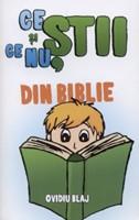 Ce ştii şi ce nu, din Biblie vol.1