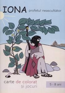 Carte de colorat - Iona, profetul neascultător