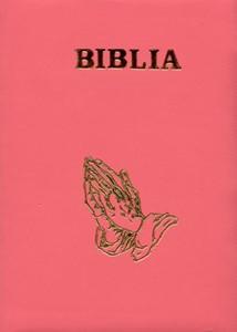 Biblia medie, copertă piele, cuvintele D-lui în roşu. (HB)