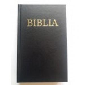 Biblia - mica, coperta carton, negru, fara cruce
