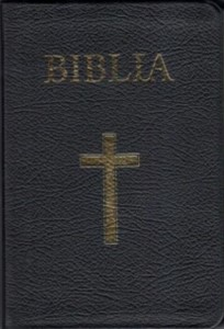 Biblia foarte mare, coperta piele, aurita, index