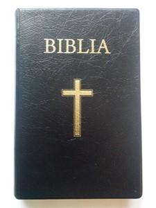 Biblia - medie 2, coperta piele, aurita, neagra