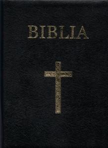 Biblia medie, coperta piele, aurita, index, fara fermoar
