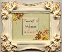 Mini tablou de ceramică dreptunghiular. Bucuraţi-vă totdeauna în Domnul!