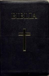 Biblia - medie 2, coperta piele, aurita, index, neagra