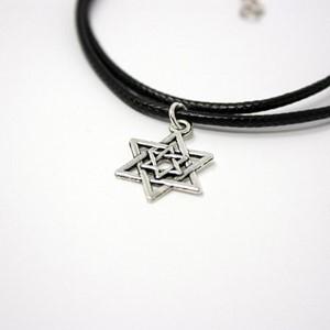 Pandantiv cu şnur Steaua lui David