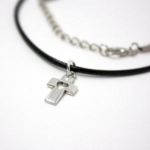 Pandantiv Cruce şi inimă