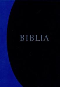 Biblia revideált új fordítás, közepes, kemény, kék 2014-es új kiadás