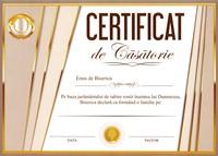 Certificat de casatorie A