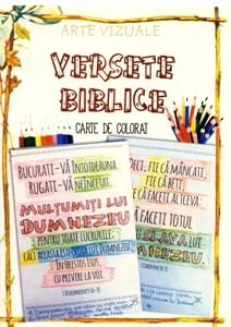 Versete biblice - carte de colorat A5