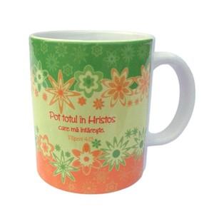 Cană ceramică: Iosua 1:5 / Filipeni 4:13