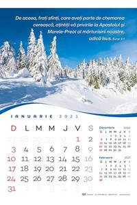 Calendar A3 2021 peisaje