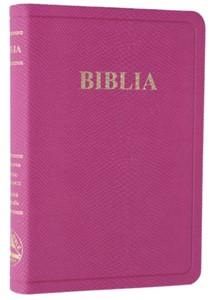 Biblia, format mediu, imitație de piele, roz, fără index