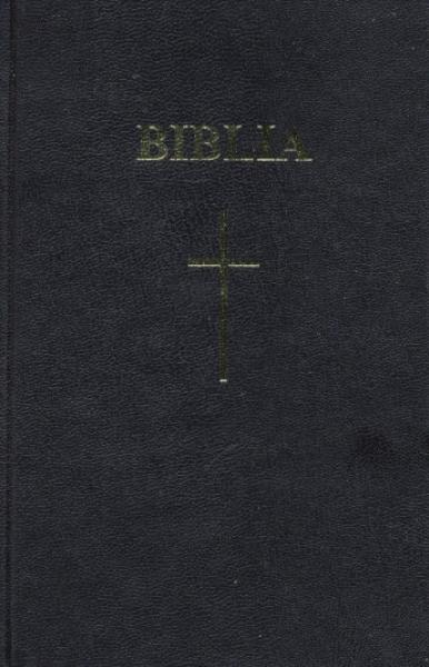Biblia  format mediu, coperta carton, cuvintele D-lui Isus în roşu