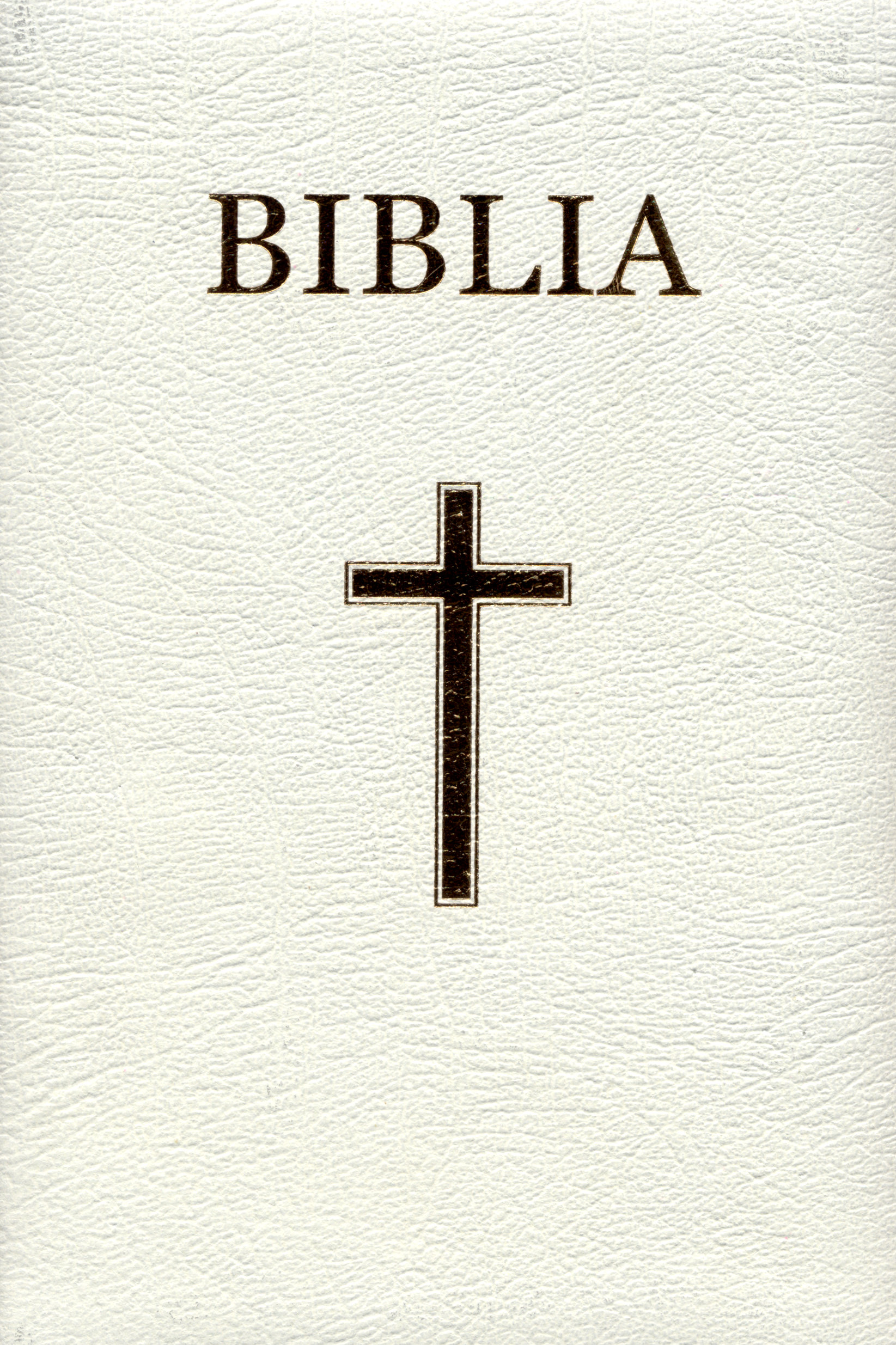 Biblia - medie 2, coperta piele, aurita, index, alba