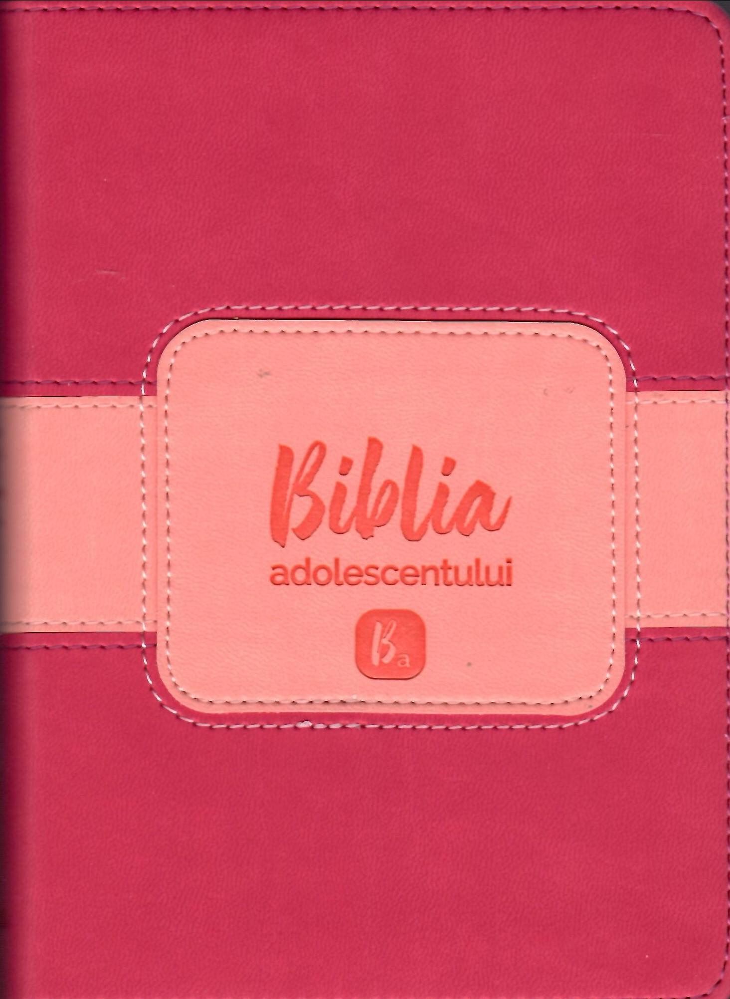 Biblia adolescentului - copertă cyclamen