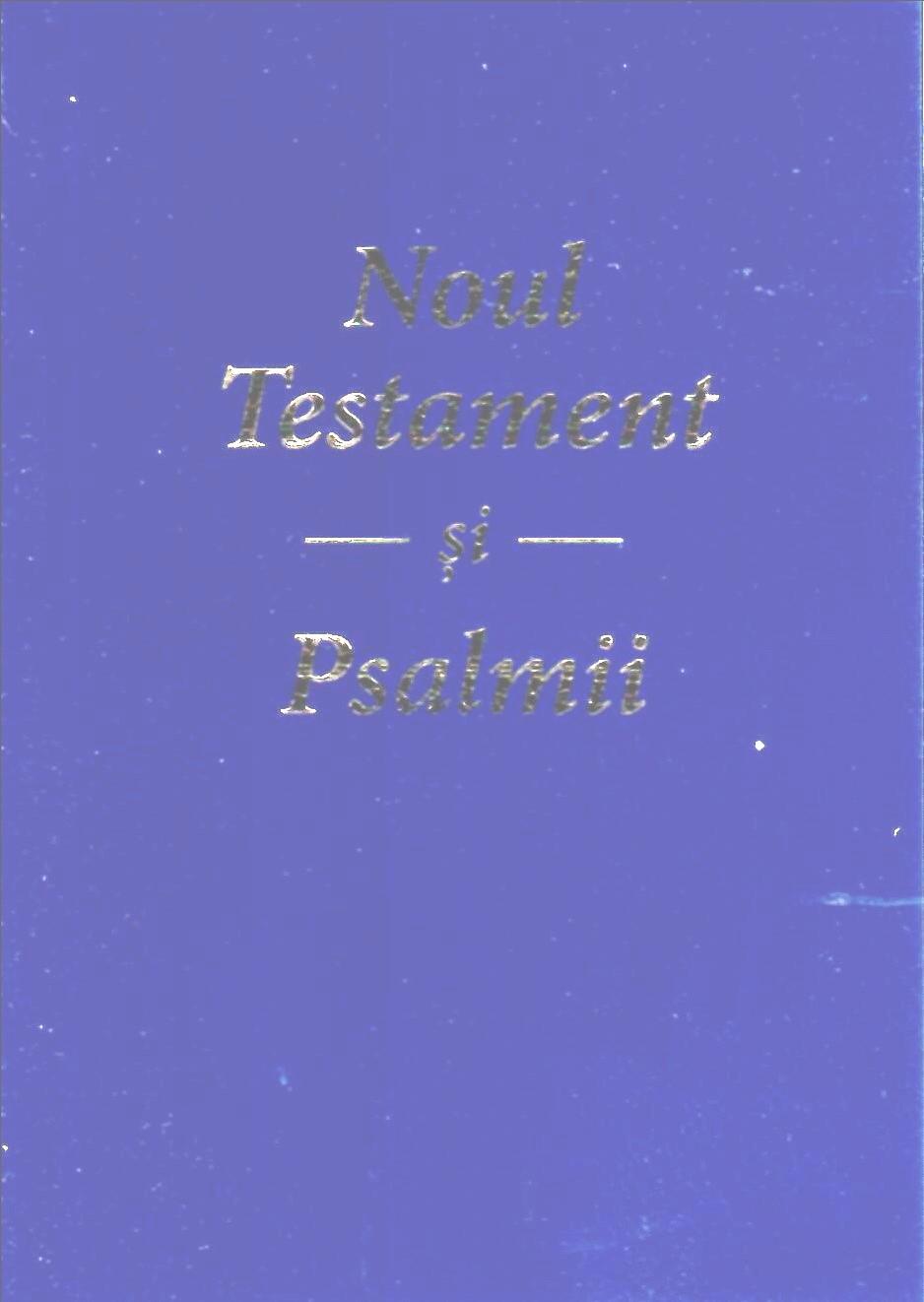 Noul Testament și Psalmii, format de buzunar