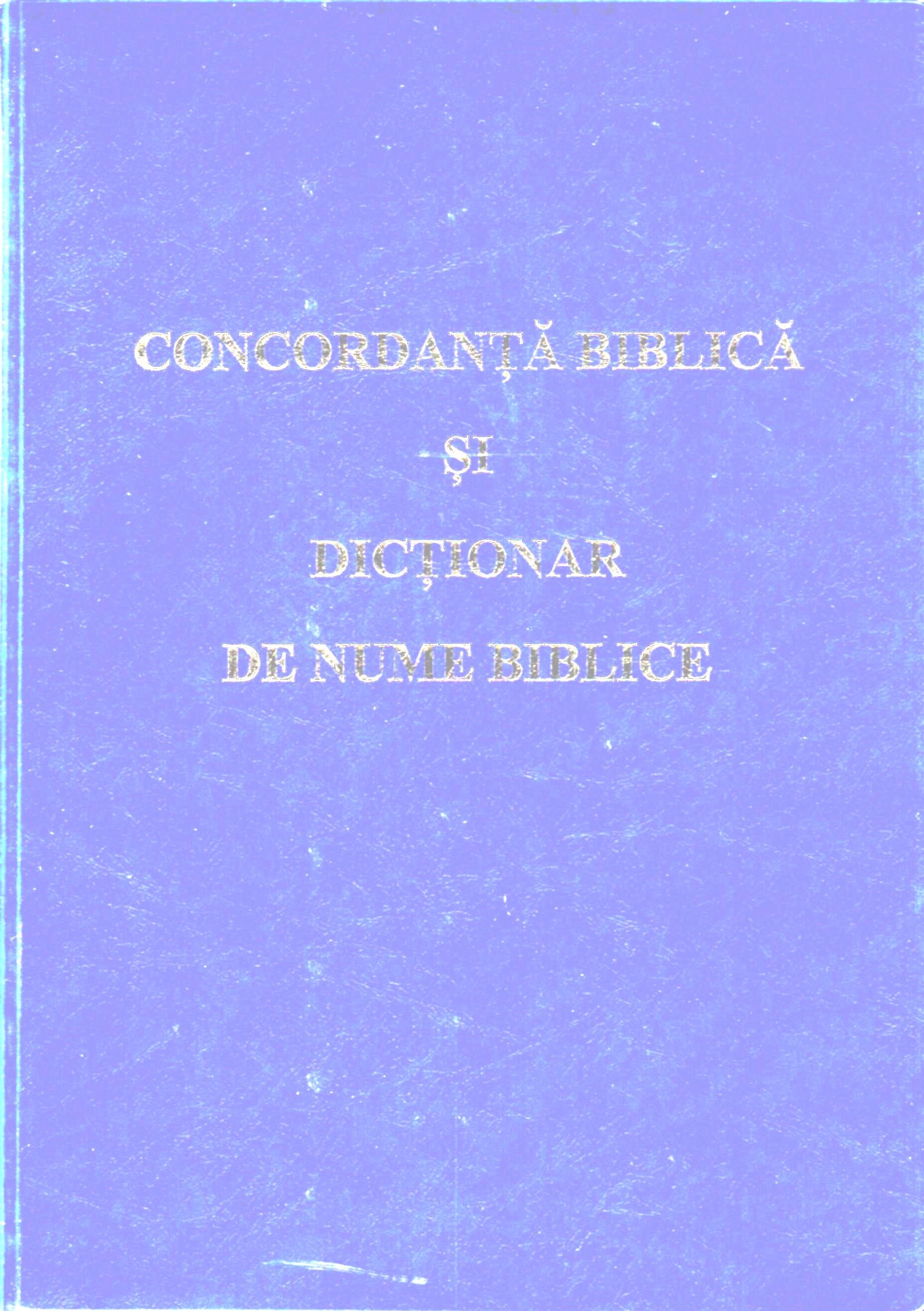 Concordanță biblică și dicționar de nume biblice