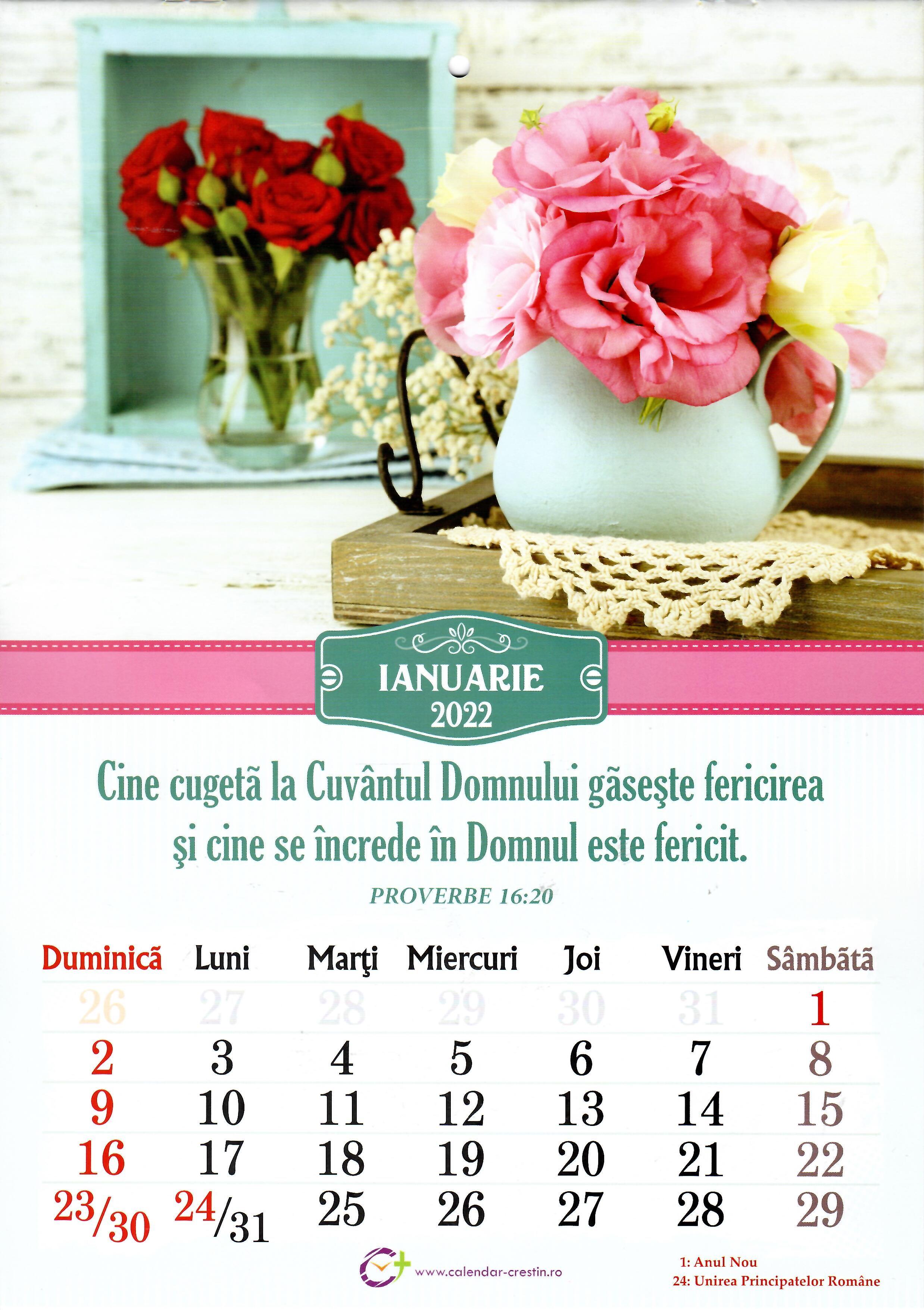 Calendar A4 2022 - flori